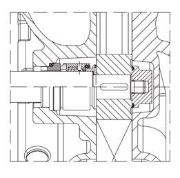 CSF H Series Mechanical Seal Diagram